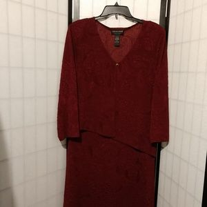 Wine Colored Dress by Connected Apparel sz 16